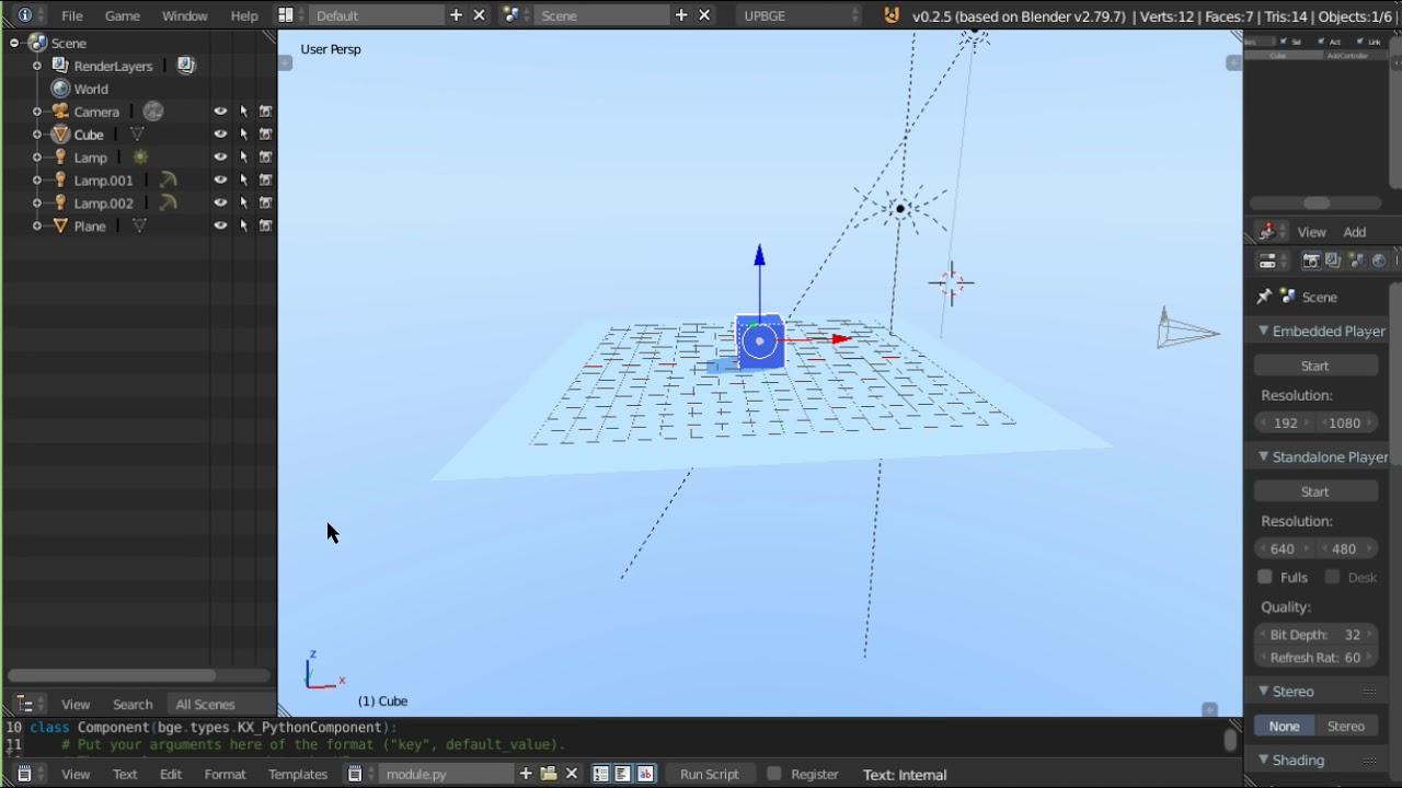 Upbge player movements BGE Blender Game Engine Tutorial