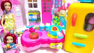 Disney Princess Ariel doll Baby Doll Kitchen Food Cooking Surprise Egg Play House