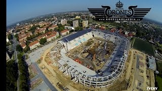 preview picture of video '2014-09-07 - Stadion GKS TYCHY Miejski - widok na plac budowy wysokość do 300 m.'