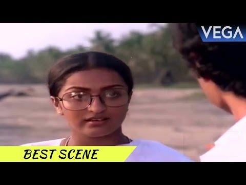 Bharath Gopi & Manochithra Meets At Beach || Swantham Sharika Movie Scenes