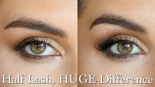 Accent Lashes: Best styles & tips for applying half lashes | Bailey B.