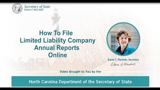 How to File LLC Annual Reports Online with the NC Department of the Secretary of State