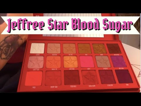 ⭐️Jeffree Star⭐️ Blood Sugar Palette Is It Really Worth It & Swatches