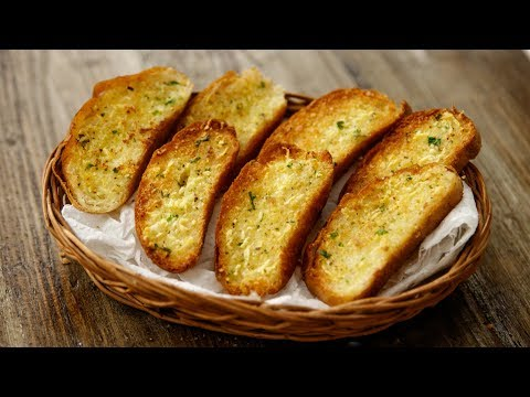 Garlic Bread Recipe – TWO WAYS Tawa & Oven in Cafe Style – CookingShooking