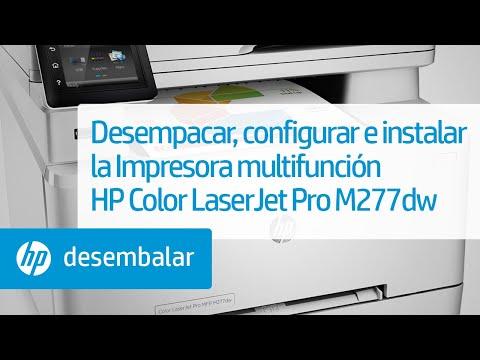 Desempacar, configurar e instalar la Impresora multifunción HP Color LaserJet Pro M277dw