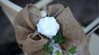 Burlap Wedding Pew Bows