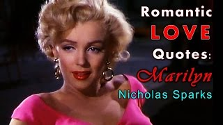 MARILYN MONROE FAMOUS LOVE QUOTES 3, Nicholas Sparks (Country Audios)