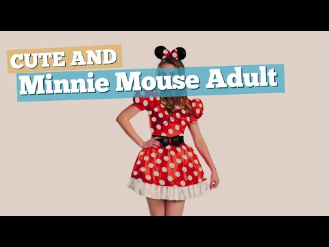 Minnie Mouse Adult Costume // Cute And Sexy