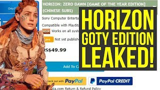 Horizon Zero Dawn Game of The Year Edition LEAKED - Horizon Zero Dawn DLC Included?!