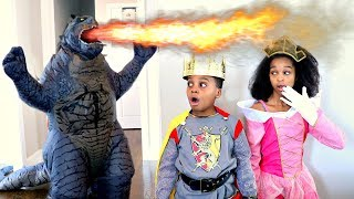 GODZILLA Takes Princess Shasha - Shiloh the Knight - Onyx Kids