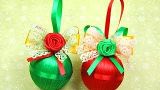 Смотреть онлайн Как сделать новогоднее украшение на елку своими руками