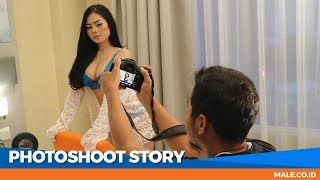 FIKA ASYHARI di Behind the Scenes Photoshoot - Male Indonesia | Model Seksi Indo