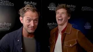 FANTASTIC BEASTS 2 Jude Law & Eddie Redmayne Interview - Back To Hogwarts Fan Event