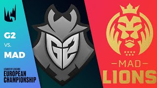 G2 vs MAD, Game 4 - LEC 2020 Spring Playoffs Semifinals - G2 Esports vs MAD Lions G4