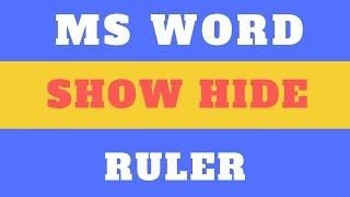 18# How to Show Hide Ruler in MS Word 2019/2016/2010 | Anand Tech Talk