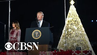 President Trump and first lady light this year's National Christmas Tree in D.C.