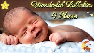 4 Hours Super Relaxing Baby Music ♥♥ Most Soothing Bedtime Lullaby No. 9 ♫♫ Cute Smiling Baby Asleep