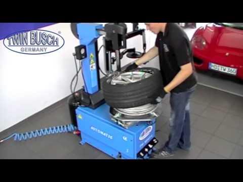 Reifenmontagemaschine mit Hilfsmontagearm von Twin Busch Germany   TW1236   YouTube