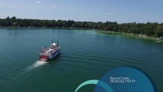 Neat Drone Video of the Waupaca Chain O' Lake
