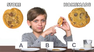 Kids Try Store-Bought vs Homemade Cookies | Epicurious