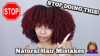 Natural Hair Mistakes That Stop Your Hair From Growing