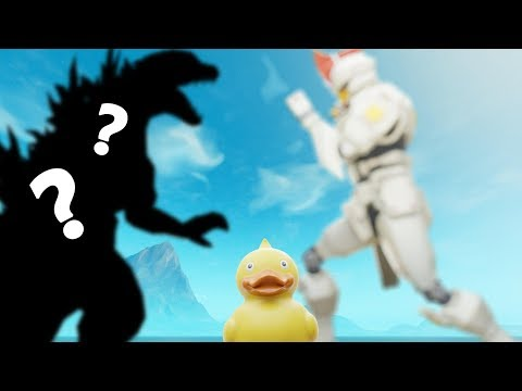 Giant Robot fighting Polar Peak Monster while Big Rubber Duck Distracts? - Fortnite Theory Crafting