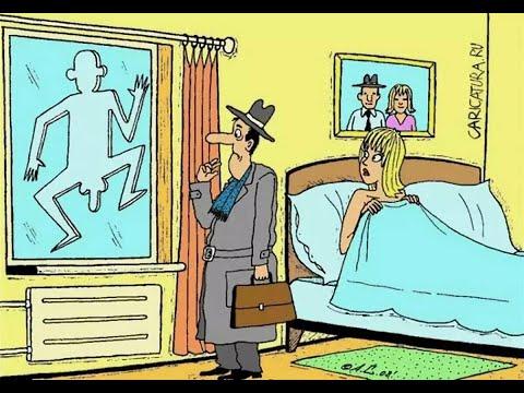 Побег любовника. Муж вернулся домой когда его не ждали!