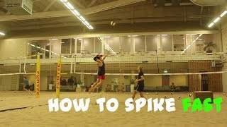 Beach Volleyball Spike Technique (Hit the ball early!)