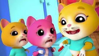 Trois petits chatons | rime chaton pour enfants | rime française populaire | Three Little Kittens