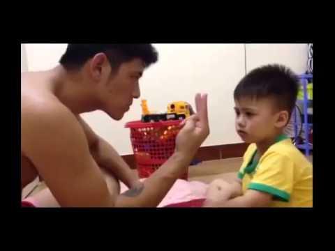 Xem bố dạy toán cho con trai mà không nhịn được cười
