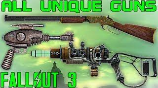 Fallout 3: All Unique Guns / Firearms Guide (Vanilla)