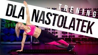 Trening dla NASTOLATEK | w domu | lekki trening na upał | #Fitnastka | Codziennie Fit