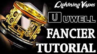 Uwell Fancier RTA RDTA Build & Wicking Tutorial - By Lightning Vapes