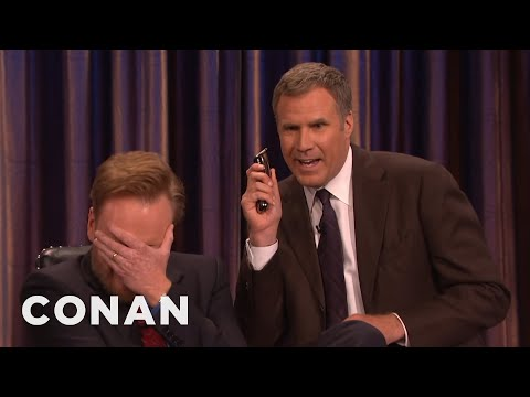 Will Ferrell And His Razor Come To Shave Conan's Beard  - CONAN on TBS