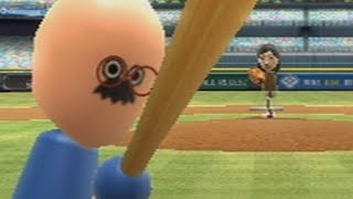 wii sports baseball playoffs raging and funny moments