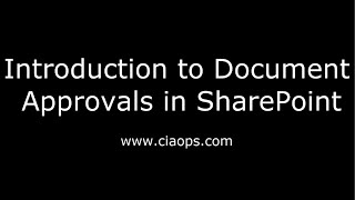 Introduction to Document Approvals in Sharepoint
