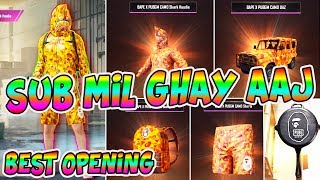 I CAN'T BELIEVE | BEST CRATE OPENING OF MY LIFE | GOT FULL BAPE X PUBGM OUTFIT | TRY MY LUCK PUBG