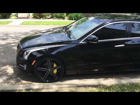 Cadillac ATS on 20's and yellow calipers
