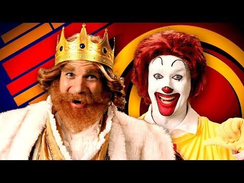 Ronald McDonald vs The Burger King. Epic Rap Battles of History