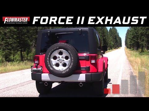 2012-18 Jeep Wrangler JK, 3.6L - Flowmaster Force II Axle-Back Exhaust System 817729