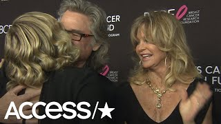 Goldie Hawn & Kurt Russell Adorably Crash Daughter Kate Hudsons Interview | Access