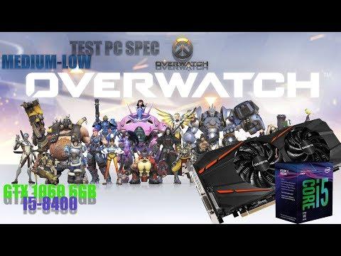 Overwatch GTX 1060 GAMEPLAY -- Low settings test - смотреть