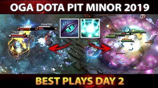 OGA Dota PIT Minor 2019 - BEST PLAYS - Day 2