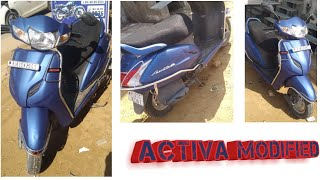 Activa Modified/activa Blue Colour Wrapping