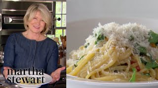 Martha Makes a One-Pot Pasta Dinner | Homeschool with Martha | #StayHome #WithMe