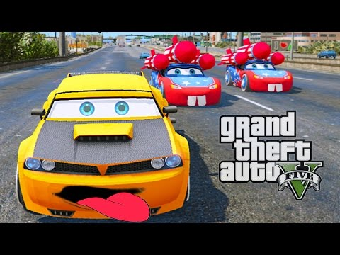Grand Theft Auto V - DODGE CHALLENGER, STINGER (GTA 5 Disney CARS MOD)