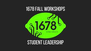 2016 Fall Workshops - Student Leadership