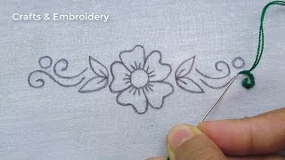 Hand Embroidery Amazing Flower Embroidery For Dresses, Easy Flower Stitches, Flower Embroidery Patte