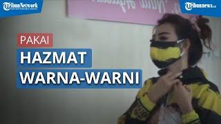 Agar Tak Terkesan Menyeramkan, Dokter Gigi di Malang Pakai Hazmat Modis Berwarna-warni