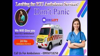Best Road Ambulance Service in Saguna More  by Medilift Ambulance